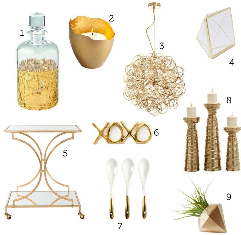 Gold Tone Home Decor