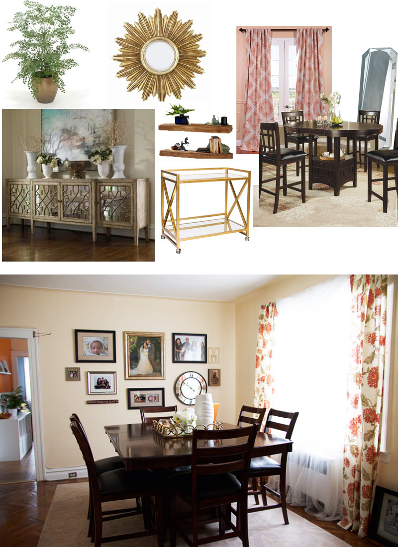 My Current Dining Room and Mood Board