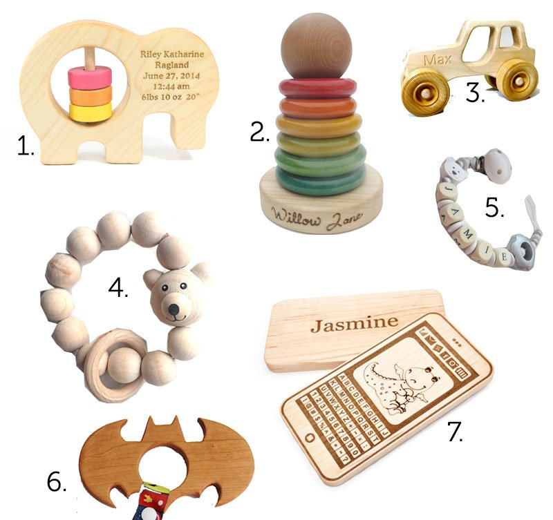 Favorite Wooden Baby Accessories On Etsy