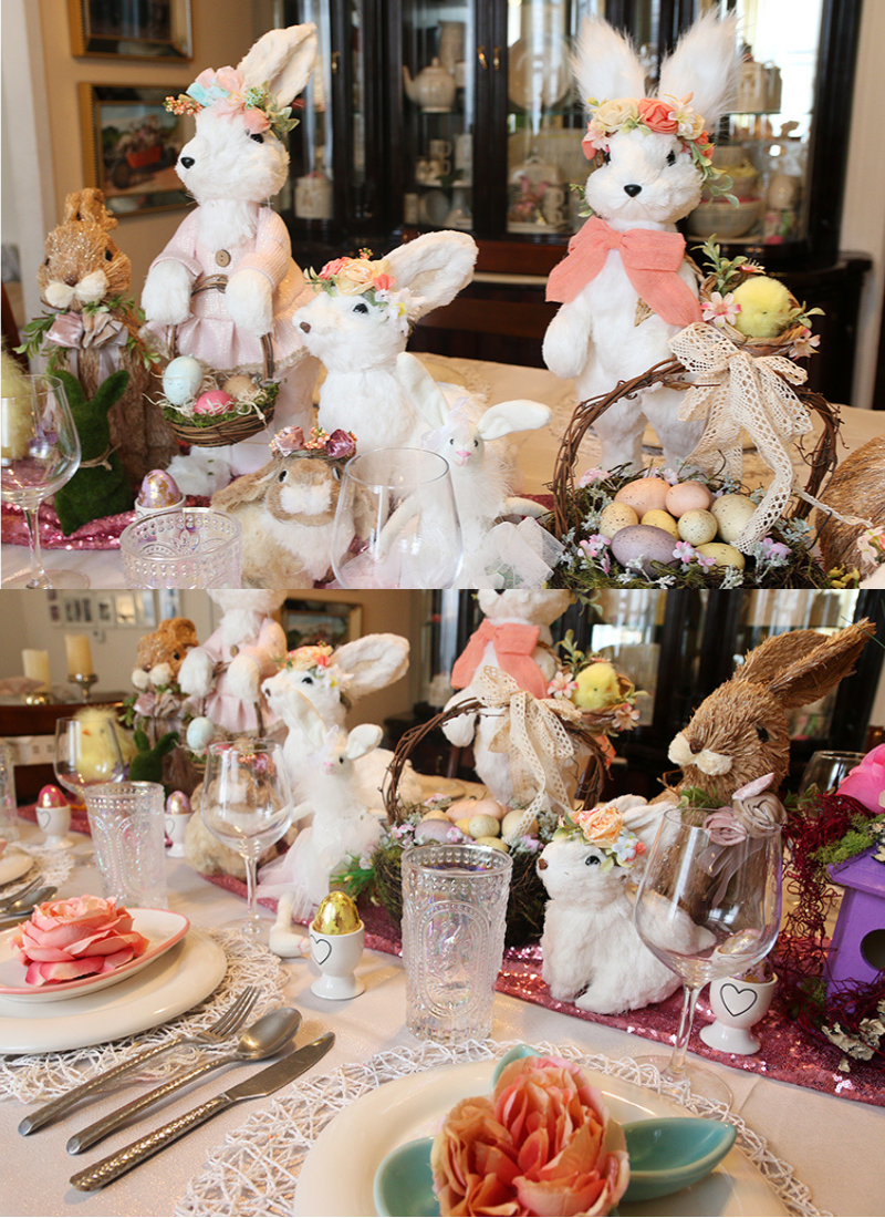 Easter Bunny Tablescape