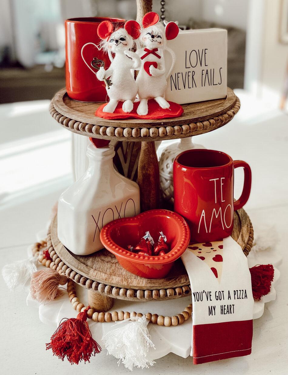 valentine tiered tray