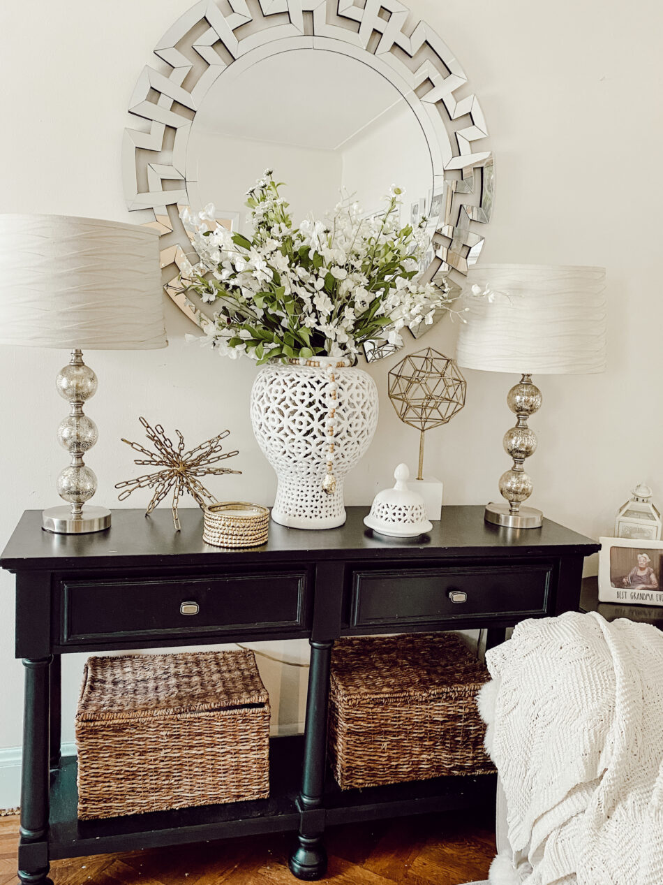 How to decorate a console table.